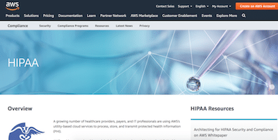 AWS HIPAA compliant hosting review
