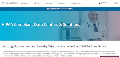 Liquid Web HIPAA compliant hosting review